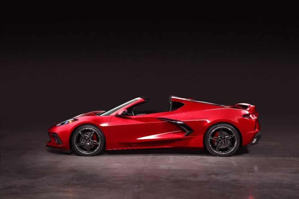 Corvette exterieur rood