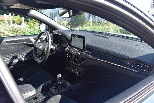 Het interieur van de Ford Focus ST