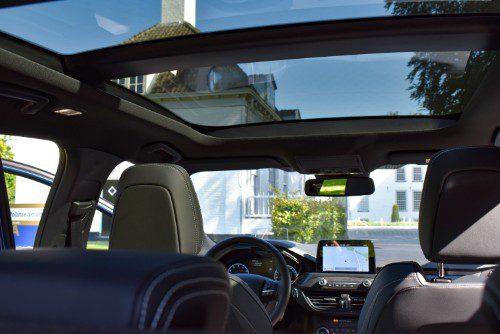 Het panoramadak van de Ford Focus ST